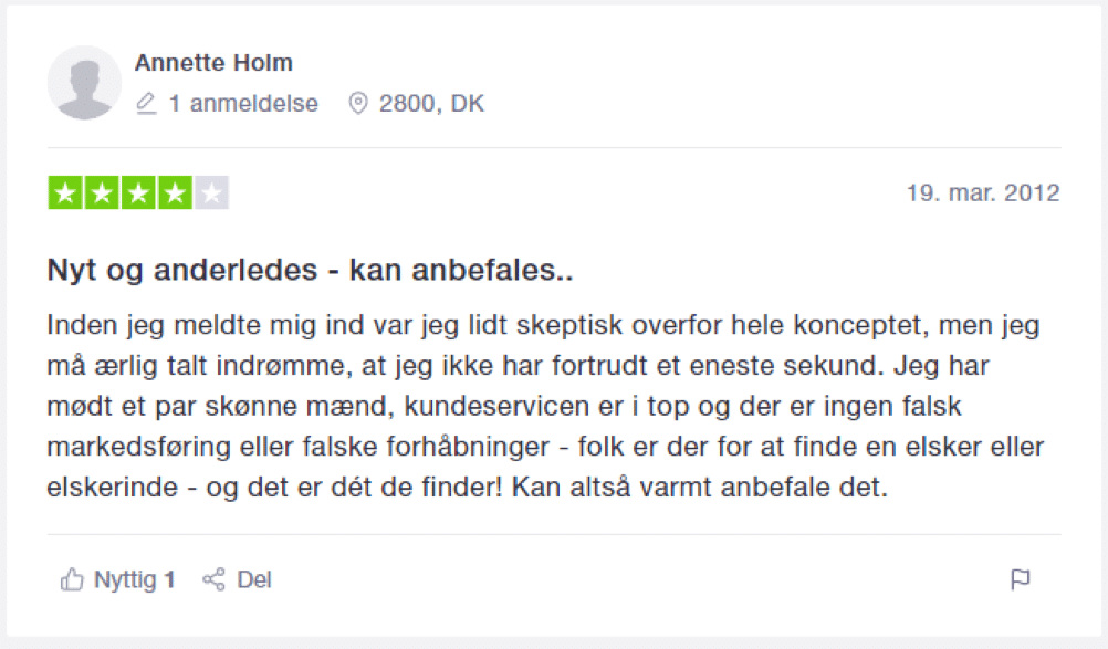 anbefale dating side