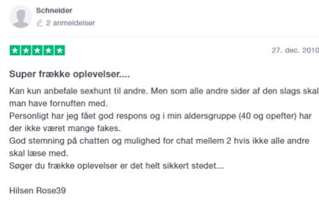 trustpilot sexhunt.dk